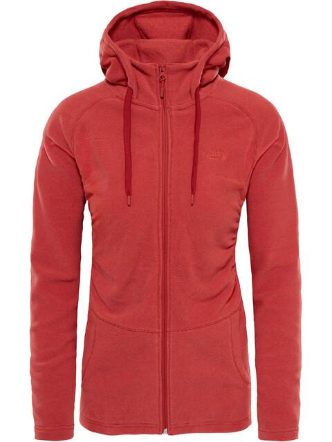 The North Face W's Mezzaluna Full Zip Hoodie Bossa Nova Red Stripe